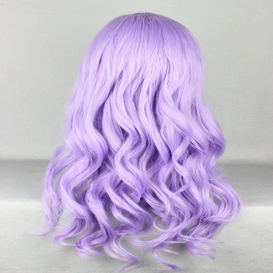 HAIRJOY Synthetic Hair Zipper 70cm Long Wavy Harajuku Lolita Cosplay Wig 18 Colors Available 86