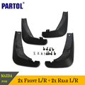4 pcs plástico abs mud flaps flap respingo guarda set auto acessórios paralama dianteiro traseiro preto para mazda 6 2013 2014