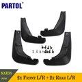 4 unids flap guardabarros guardabarros de plástico abs set de accesorios de auto delantero trasero negro trasero para mazda 6 2013 2014