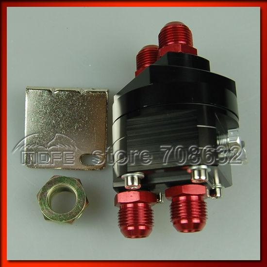 AN10 Ölkühler Verlegung Mit Geflochtenen Nylon Edelstahl Ölleitungen Schwarz - 6