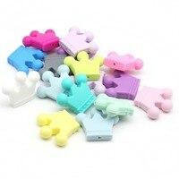Bebek Diş Kaşıyıcı Silikon Şeker Taç 50 ADET Bitmemiş Silikon Taç Malzemeleri Aksesuarları Taç Kolye El Sanatları Charms Karışık renk
