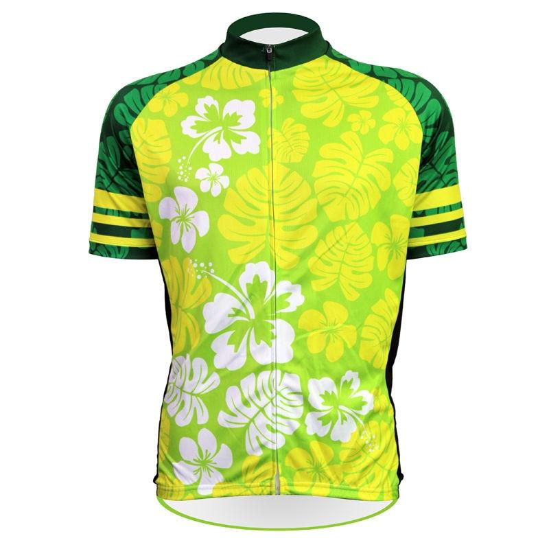 b5e16dd98 الغريبة رياضية الزهور ويترك نمط الدراجة ملابس الرجال صيف 100% البوليستر  السريع الجافة الدراجات جيرسي حجم XS-5XL