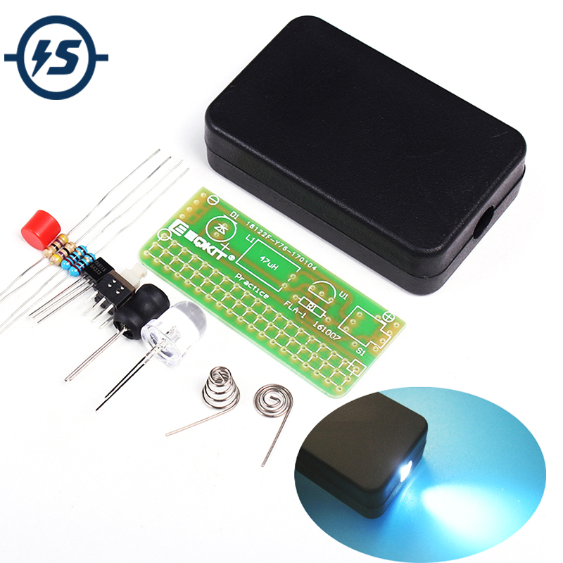 DIY Kits 1.5V Flashing Lights Kit Soldering Practice Circuit Board Universal Flashlight Plate Electronic Manufacturing Parts