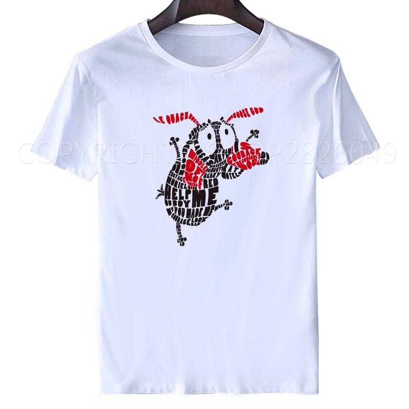 Courage The Cowardly Dog t shirt 2017 Cartoon Network Licensed Adult Shirt M-3XL Free Shipping ...