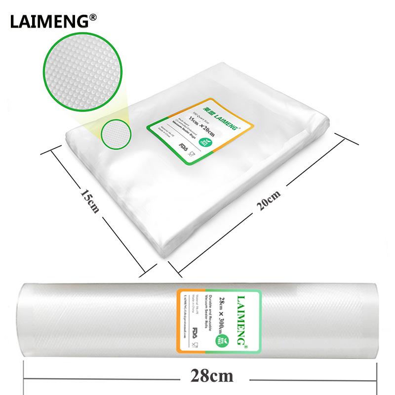 LAIMENG Film For Vacuum Packaging Sealing a Meal Easier 15*20CM 28*300CM Match With Best Vacuum Food Storage Bags carbon nanotube film for electrochemical energy storage devices