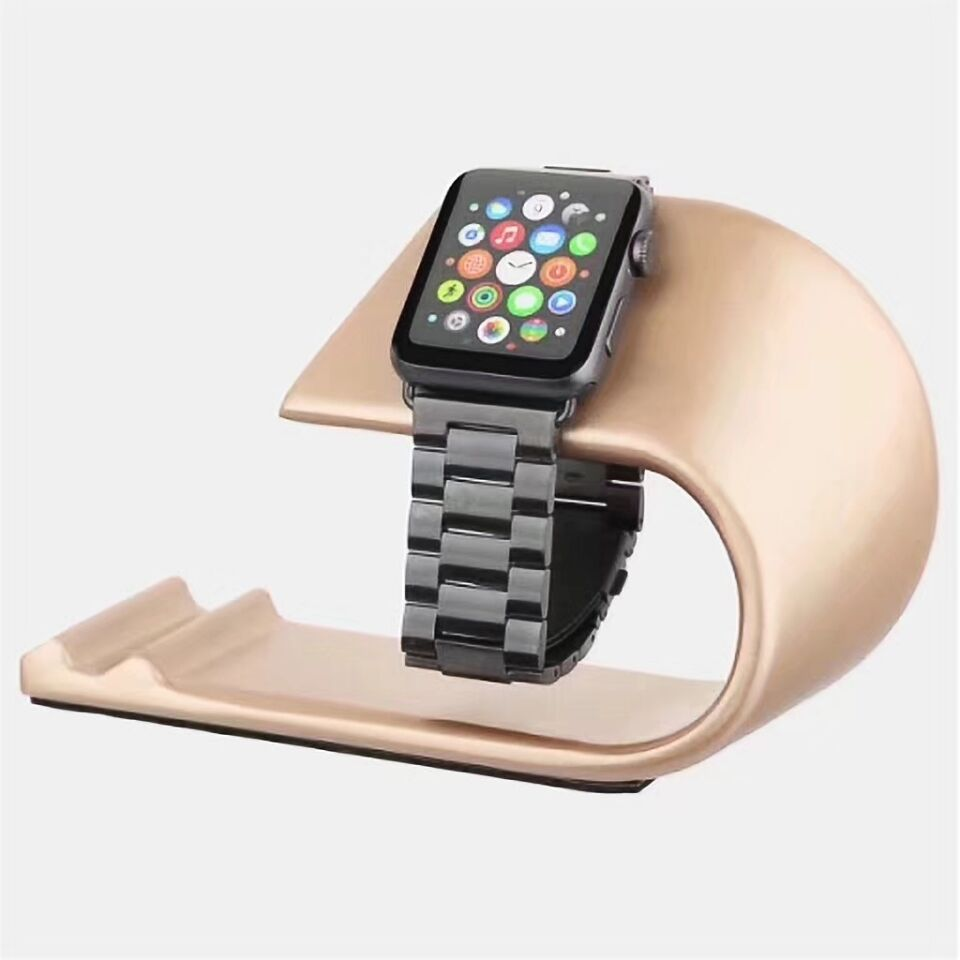 High Grade U Type Metal Bracket Cradle Phone Holder Stand For iPhone For iwatch Charging Dock Station Holder For APPLE Watch