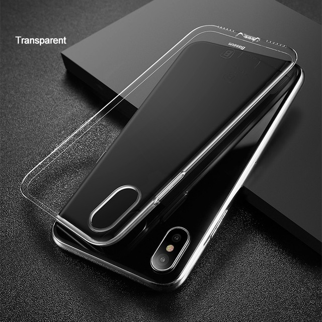 Baseus Ultra Thin TPU Case For iPhone X Dirt-resistant Case Transparent Soft Silicone High Transparency Case For iPhone X Cover
