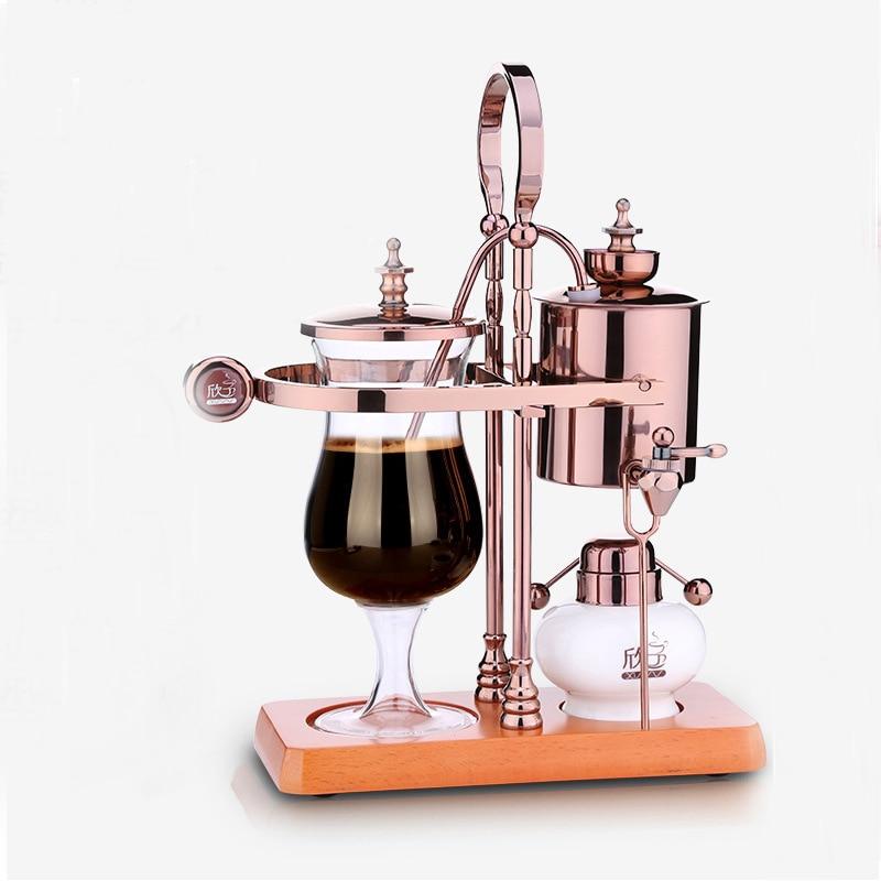 Nuevo diseño de gota de agua real de sifón café/máquina de café de Bélgica de sifón vacío café brewer