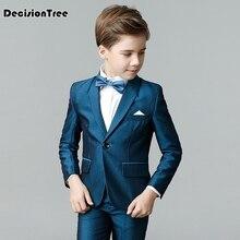 2019 new high quality nimble boys formal suits kids blazer gentlemens suit sets for school flowers lapel wedding
