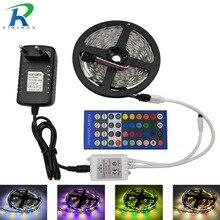 SMD 5050 RGBW RGBWW RGB LED Strip No Waterproof 5M DC 12V LED Light Strips 60led
