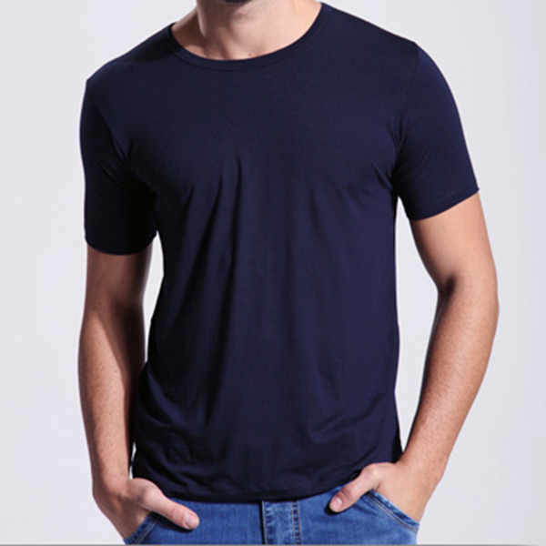 Summer clothes men picture more detailed picture about for Bamboo fiber t shirt