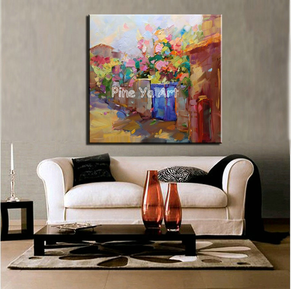 Big Piece Abstract Modern Canvas Wall Art Handmade Picture