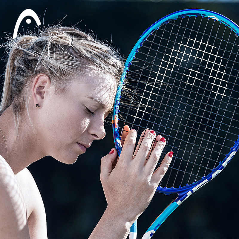 Original Head Female Tennis Racket Sharapova raquete de tennis Carbon aluminum Fiber Top Material tennis string 8 colors L1 L2