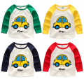 2017 spring and autumn boys t shirt casual cartoon child long-sleeve T-shirts child patchwork top 100% cotton o-neck t shirt
