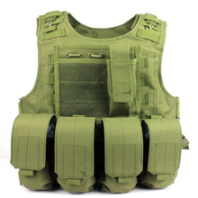 Amphibians combat Molle Hunting design military Tactical vest army green WIRE STEEL IN