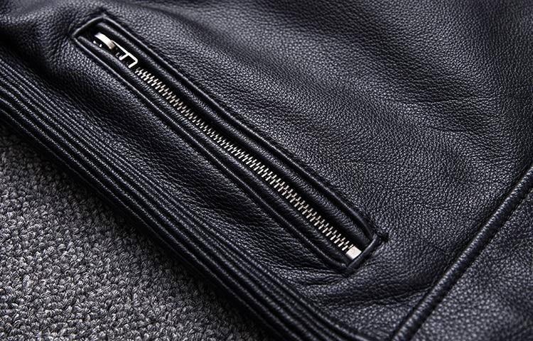 Brand new cowhide clothing,man's 100% genuine leather Jackets,fashion vintage motor biker jacket.cool warm coat
