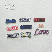 New arrive Letter YES Sumy iron on patches Embroidered Applique Fine Stickers Badges clothing shoe badge DIY Apparel accessory(China)