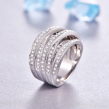 MALANDA Brand New Luxury Clear Zircon Rings For Women Fashion Engagement Female Ring Wedding Office Jewelry Mother's Gift 2018