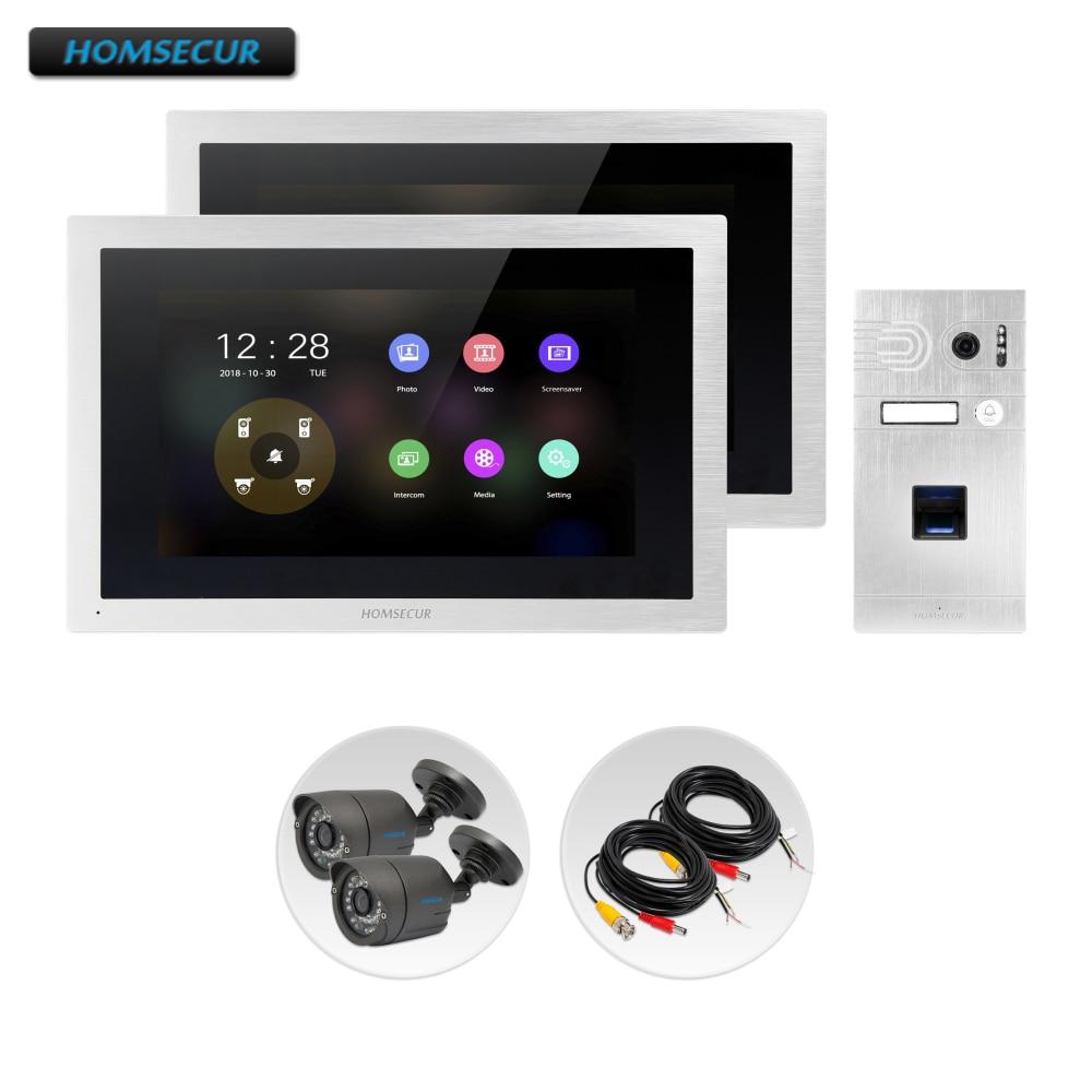 HOMSECUR 4 Wire AHD Video Door Phone Intercom System With Waterproof CCTV Camera BC061HD-S+BM114HD-S