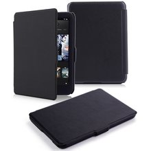 Ultra Slanke Dunne Lederen Beschermhoes Smart Pu Leather Case Voor 2015 Tolino Shine Hd 2 Ereader Smart Cover Case(China)