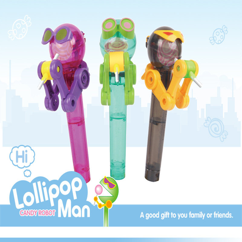 High Quitly In History Latest Creative Personality Toy Lollipop Holder Decompression Toy Lollipop Robot Decompression Candy Toy