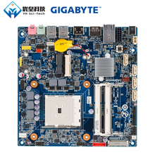 Original Used Desktop Motherboard Gigabyte MQHUDVI A75 Socket FM2 AMD Fusion APU DDR3 16G SATA3 USB3.0 HDMI DP Thin Mini ITX цена