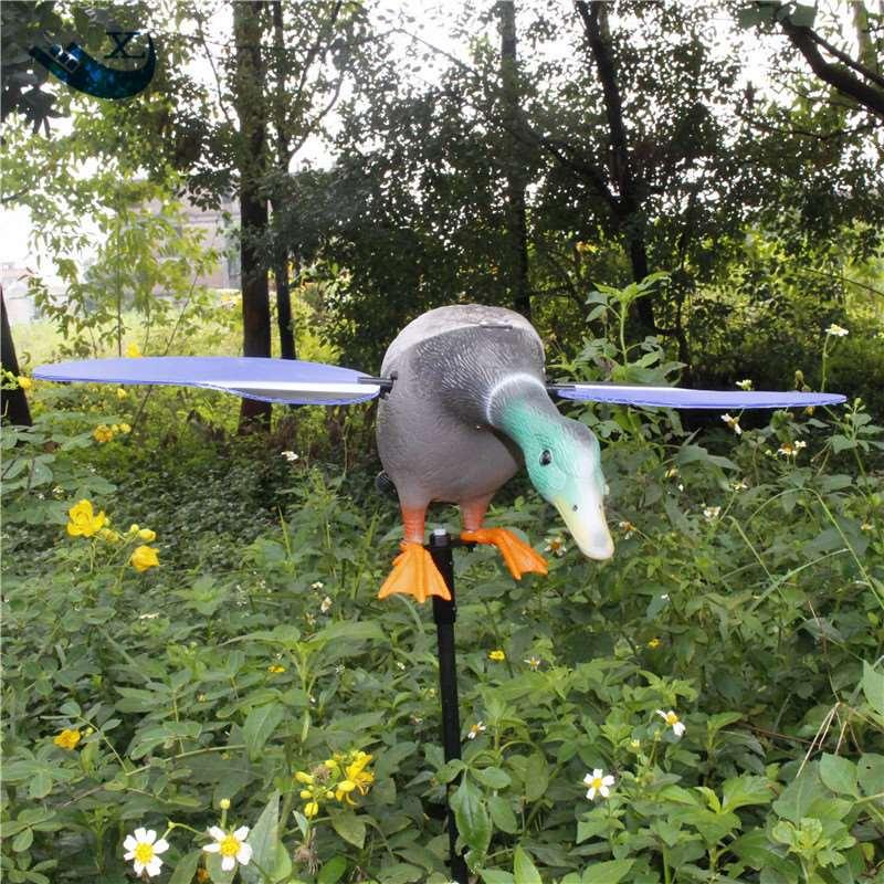 ФОТО Xilei 2016 Factory Wholesale Eco-Friendly Plastic Mallard Drake 6V Motor Ducks Decoy Hunting Duck  With Magnet Spinning Wings