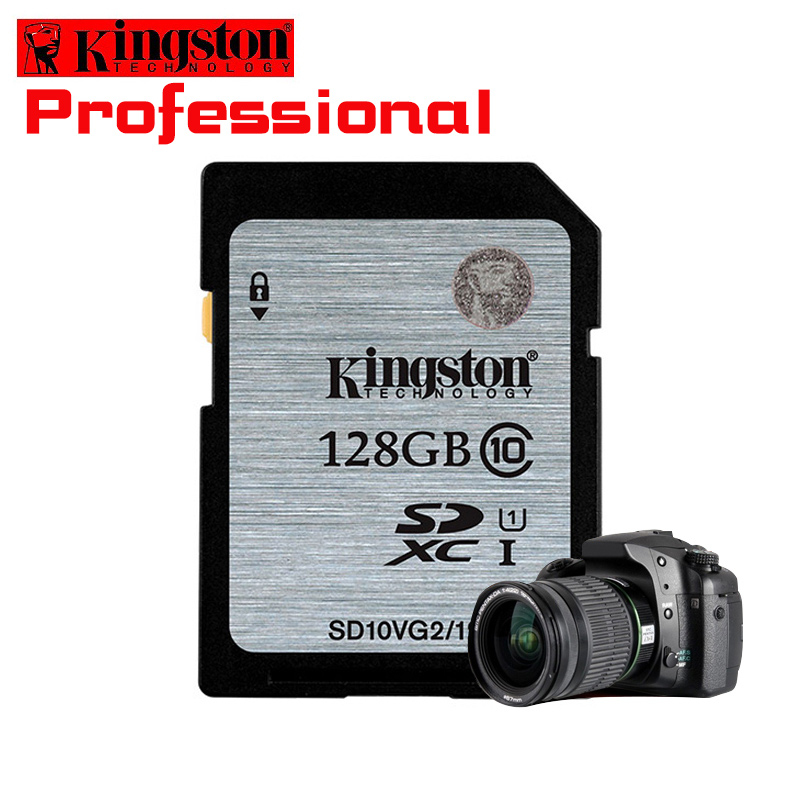 Kingston Memory Card 128GB class10 High Speed Sd Card SDHC/SDXC cartao de Memoria carte sd tarjeta For Digital Sport Camera Card samsung micro sd card memory card 128gb class10 waterproof tf carte sd memoria sim card trans mikro card 128gb for mobile phone