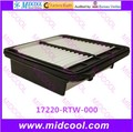 O envio gratuito de alta qulality filtro de ar filtro de cabine 17220-RTW-000 17220RTW000