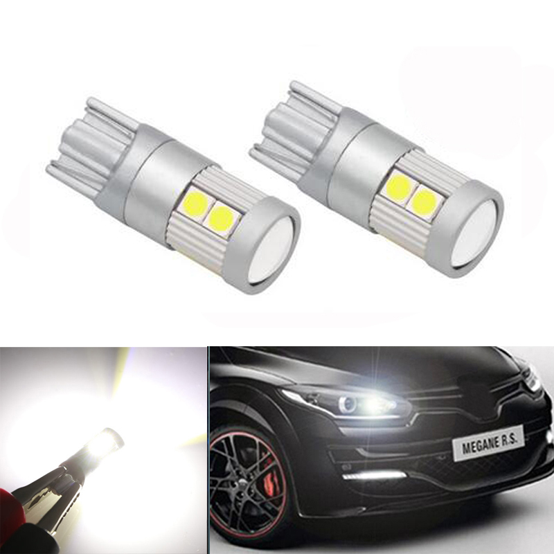 2x T10 W5W 3030smd <font><b>LED</b></font> Clearance Light with Projector Lens For <font><b>renault</b></font> megane 2 <font><b>duster</b></font> logan clio laguna 2 Koleos image