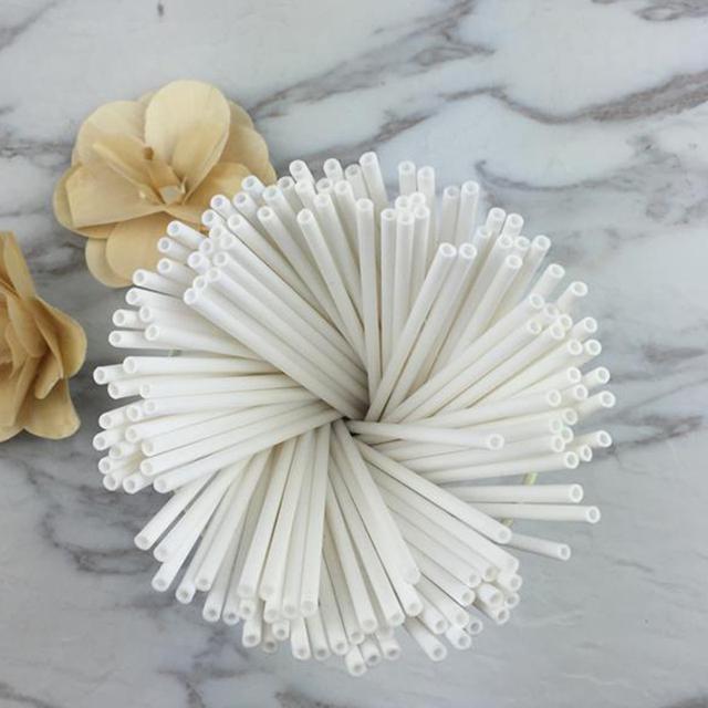 100pcs/pack 15cm Safe Plastic Lollipop Stick Cake Pop Sticks For Chocolate Sugar Candy Lollipop DIY Mold Tool