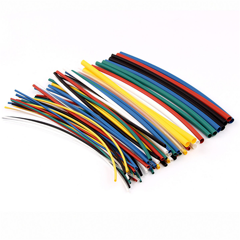 <font><b>70</b></font> pcs <font><b>2</b></font>:1 Polyolefin Heat Shrink Tubing Tube Kits <font><b>5</b></font> sizes Flame Retardant Durable 7 Color Assorted Colors Ratio image