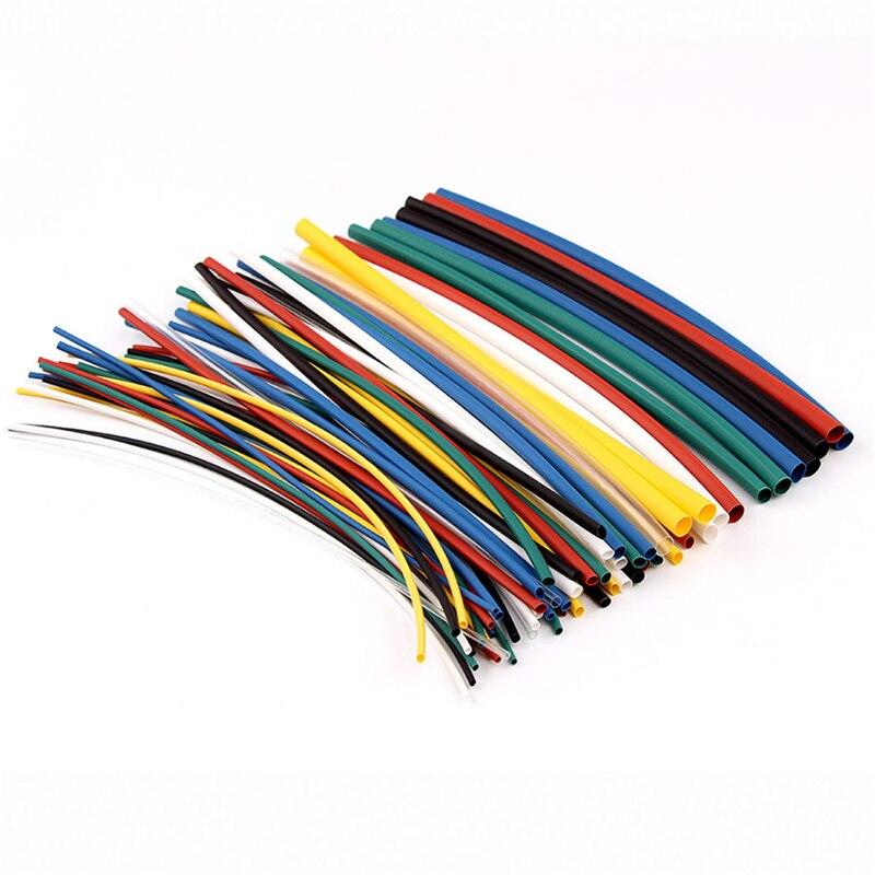 70 stücke 21 Polyolefin Schrumpfschlauch Rohr Kits 5 größen Flammschutzmittel Durable 7 Farbe Sortiert Farben Verhältnis