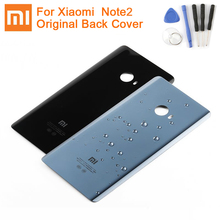 Xiaomiオリジナルガラスバッテリーリアケース2 mi Note2バックバッテリーカバー電話のバッテリーバックシェル裏表紙ケース