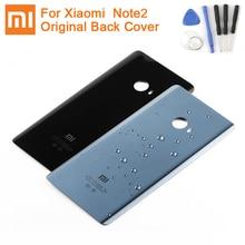 Xiaomi original bateria de vidro caso traseiro para xiaomi note 2 mi note2 voltar bateria capa telefone backshell capa traseira casos