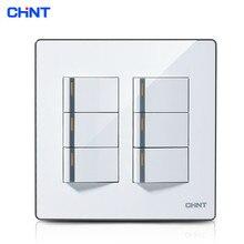 цена на CHINT Photoelectric Switch Switch Socket 120 Type/NEW9E Series Six Gang Two Way