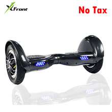 New X-Front Brand 10 inch 2*350W wheels electric smart balance scooter hoverboard LED somatosensory scooter standing hover board