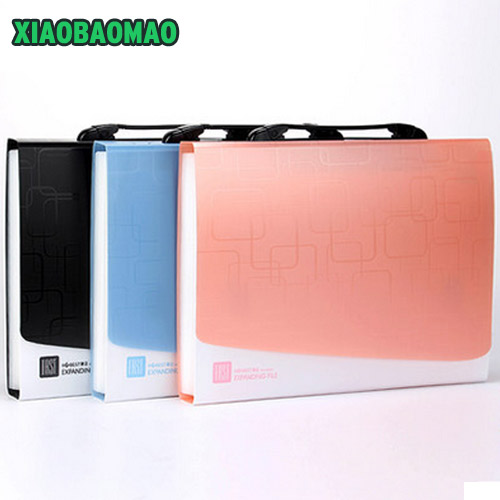 Multifunctional A4 Thickening Organ Bag Document File 13-grid Portable Multilayer Folders Expanding Wallet Office Briefcase