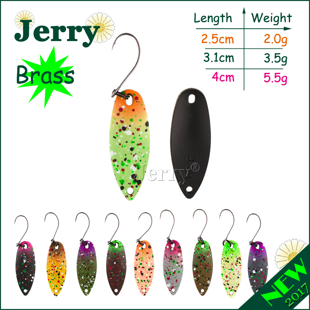 Jerry 1pc brass trout spoons matt colors high quality fishing spoon freshwater fishing lures spinners d link dvg n5402sp