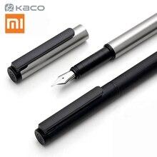 Xiaomi mijia kaco caneta fonte, conjunto de luxo, preto, 0.5mm f nib, canetas de tinta de aço, simples, negócios, escrita, caneta de assinatura caixa de armazenamento de canetas,