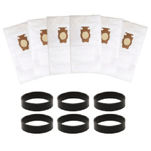 새로운 6 pcs 먼지 봉투 진공 청소기 부품 kirby sentria 204808/204811 범용 f/t 시리즈 g10, g10e 먼지 봉투 kirby sentrial 용