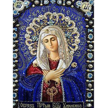 Religion Icons 5d Diy Diamond Painting blue our ladies Diamond Embroidery Full bead Pattern needlework 3D Mazayka religious pray