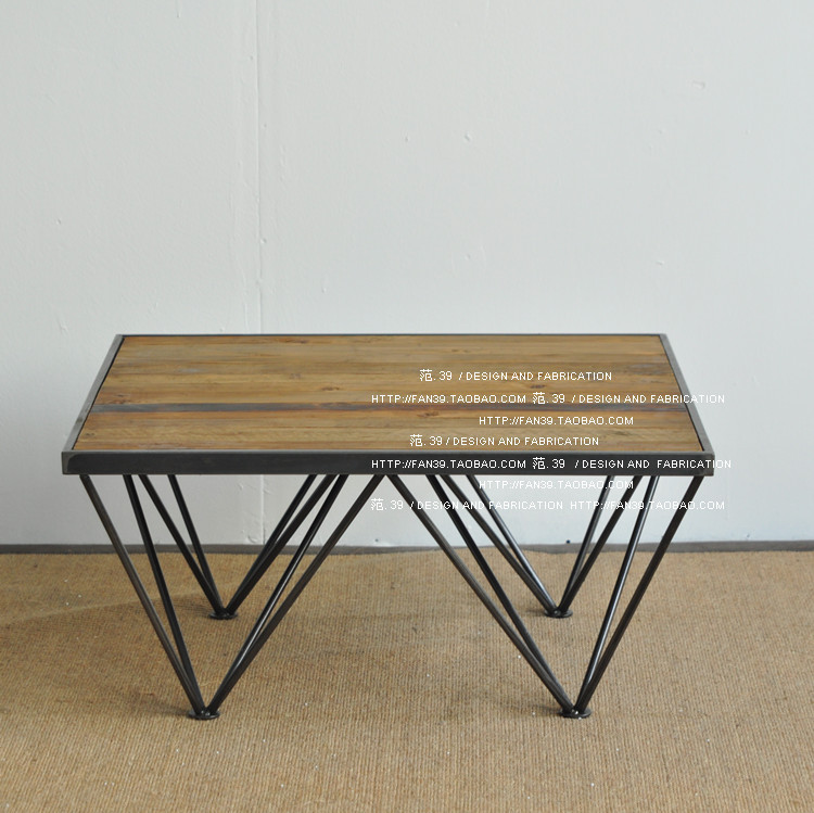 Do The Old Retro Minimalist Modern Rustic Furniture / LOFT Industrial Style  Wrought Iron Coffee Table Wood Coffee Table In Bar Tables From Furniture On  ...