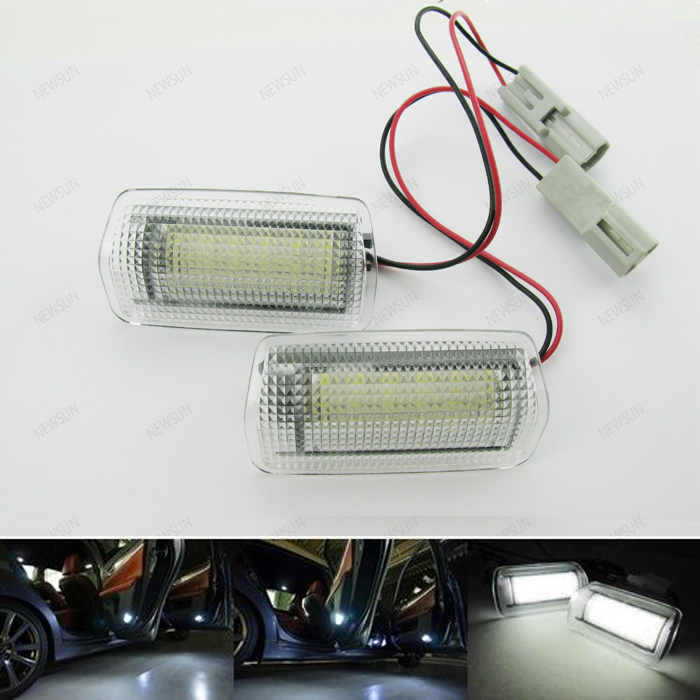 18 SMD Car LED Courtesy Footwell Step Side Door Light White for Toyota IS250 Prius Land Cruiser Venza Camry Mark X Crown Estima auto electric window main switch for toyota camry prius land cruiser venza lexus ct200h 84040 02050 8404002050
