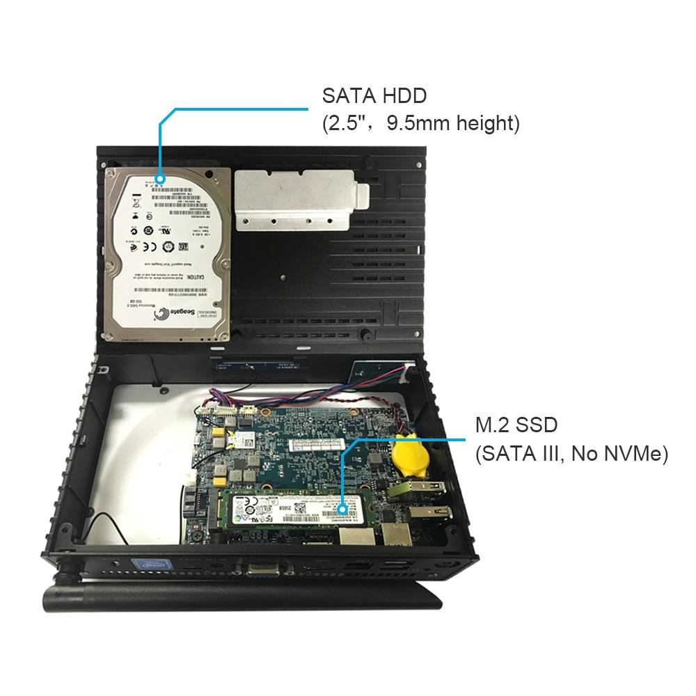 US $199 99 |Fanless Mini Computer Mini PC 3GB 32GB MeLE PCG63 Apo Quad Core  Intel Celeron J3455 Windows 10 HDMI 4K DP1 2 WiFi 5G Gigabit LAN-in Mini