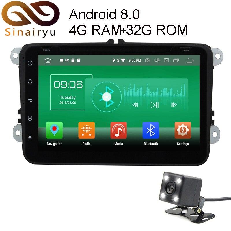 Sinairyu 4 г Оперативная память Android 8.0 DVD для Volkswagen VW Passat B6 B7 CC Гольф Magotan Octa core 32 г Встроенная память Радио GPS плеер головное устройство