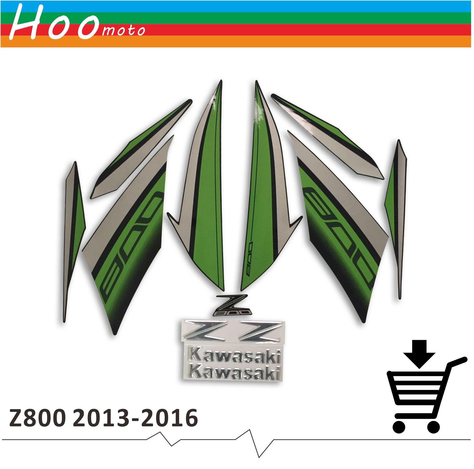 Plein Décalcomanies Autocollants Graphiques de Kit Ensemble Moto Entier Véhicule 3 m Décembre Autocollants Carénage pour Kawasaki Z800 2013 2014 2015 2016