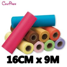 6inch Crystal Organza Sash Roll Spool For Wedding Birthday Party Decaration DIYCrafts (24 Colors For Selection) 9Meters(China)