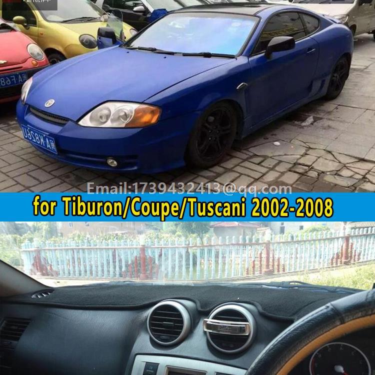 car dashmats car-styling accessories dashboard cover for hyundai Tiburon Coupe Tuscani 2002 2003 2004 2005 2006 2007 2008 rhd