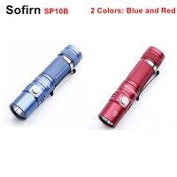 Sofirn SP10B красные, Синие Мини светодиодный фонарик AA 14500 Torch Light CREE XP-G2 светодиодный мини handy брелок-фонарик Lanterna Водонепроницаемый